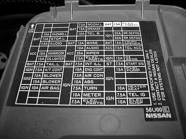 97 altima fuse diagram 2014 altima fuse diagram 97 se- 12v outlet or cig lighter ? - maxima forums #6
