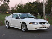 Xenon photo shoot of my car with there prototype hood scoop, side scoops, and window scoops