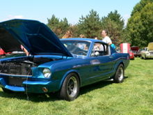 at Glaziers Mustang show