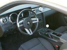Yellow Mustang interior