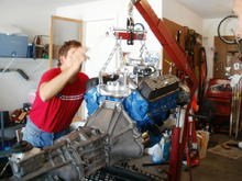 New engine with T5 going in 3-25-12
