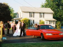 my wedding day 92 viper red coupe NICE