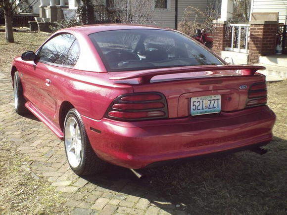 Rear shot with the 94 black accented taillights (currently being upgraded to 96-98 style black alltez taillights.