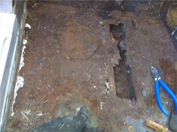 rusted floorboard