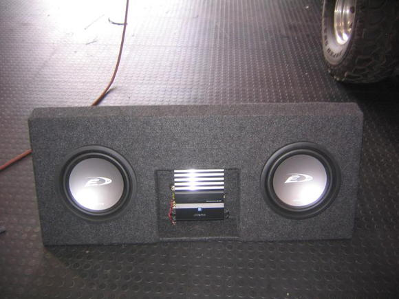 "Simple Box in a 1997 Ram(2-12"" Alpine Type E and Alpine V-power Mono amp)"