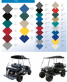 Folding Golf Cart Tops Patented Design