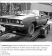 1971 Plymouth Barracuda  for sale $1