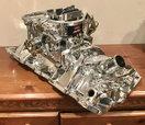 Edelbrock Performer RPM Endurashine Intake and AVS 650 Carb  for sale $650