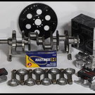 """383 STROKER ASSEMBLY SCAT CRANK 6"""" RODS WISECO -12cc Dh"""