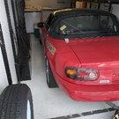 "1993 Spec Miata racecar and TPD 24"" Trailer"