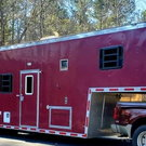 "40"" Haulmark Race / Toy hauler with Living Quarters"