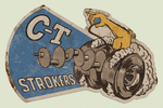 CT Strokers Metal Sign