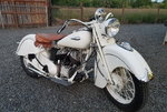 Original White 1940 Indian Bike in good and excellent condit