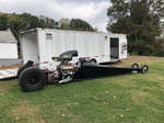 dragster and trailer