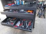 Tool carts with mechanics tools