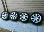 "Nissan 350Z 17"" OEM Staggered rims with BFGoodrich G-Fo"