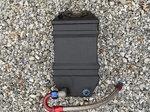 Jaz 3 Gallon Vertical Fuel Cell, -AN Fittings, Braided SS Li