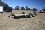 New 2020 Stagecoach 14' Single Axle Wood Floor Trailer