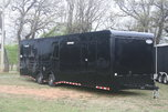 New 2018 34' BP Blacked Out Cont. Cargo Car Trailer w/Bath P