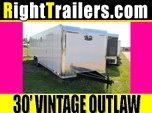 8.5x30 Vintage Outlaw   Race Car Trailer  for sale $11,999