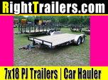 7x18 PJ Trailers | Car Hauler [C4]