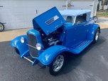 1932 Ford Roadster Grabber Blue Street Rod  for sale $35,000