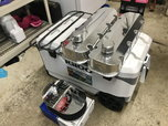 BBC Billet Fab Valve Covers w KNN Oval Scalloped Air Cleaner  for sale $250