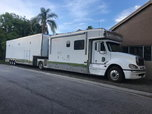 2008 FREIGHT LINER TOTORHOME AND 2007 40 FT HAULMARK TRAILER  for sale $165,000