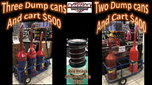 Dump cans and Carts  for sale $500