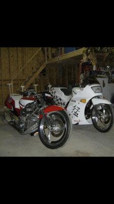 Kawasaki small block Dragbikes