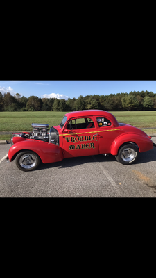 39 Chevy coupe and trailer