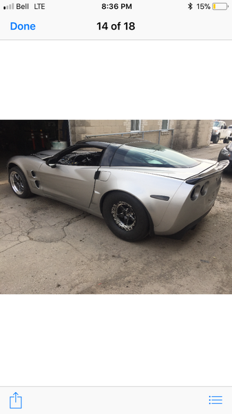 2005 corvette full tube chassis 6.50 cert   for Sale $25,000