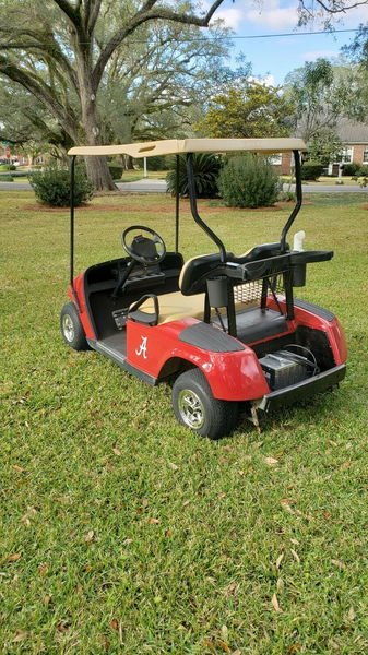 Electric EZ GO Golf Cart Custom Painted Alabama Red Roll Tid  for Sale $2,997