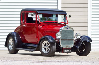 1929 Ford Model A Special Coupe / ALL STEEL / 5.7L 350 V8