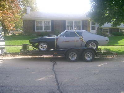 70 Camaro RS 468 th400 with trailer