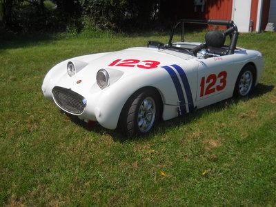 Austin Healey Bugeye Sprite vintage race car