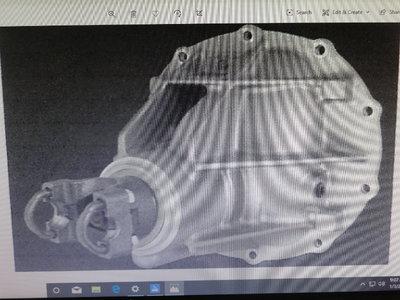Strange Aluminum 12 Bolt Dropout rear end