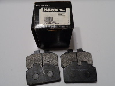 New Hawk Black Brake Pads for Dynalite Calipers