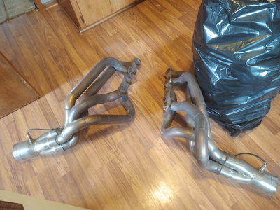 Bbc stainless fender exit headers nova