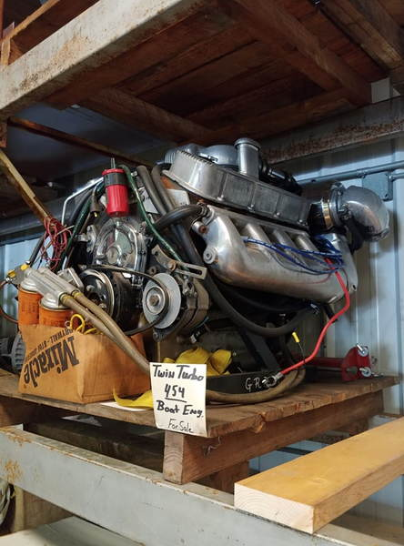 """""""Complete"""" Twin turbo 454 Marine engine  for Sale $8,600"""