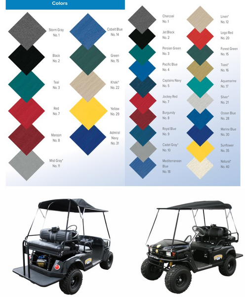 Patented Folding Golf Cart Top  for Sale $399