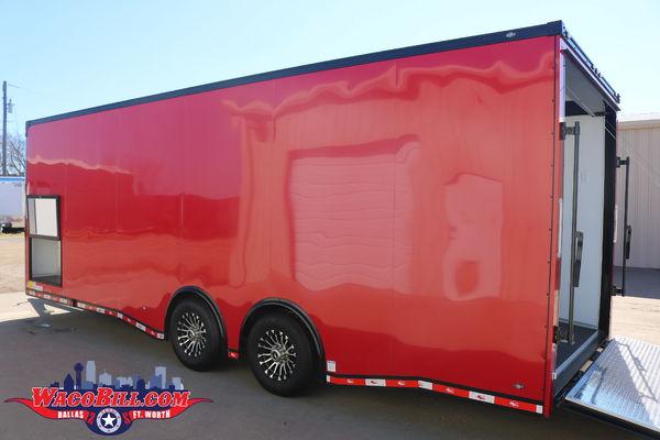 24' RED Nitro 12K Race Car Trailer Wacobill.com