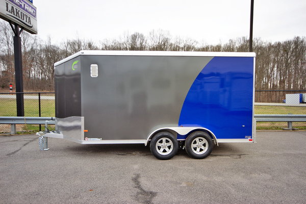 2020 NEO Trailers NAMR 7x14 w/3ft. Wedge Nose Motorcycle Tra