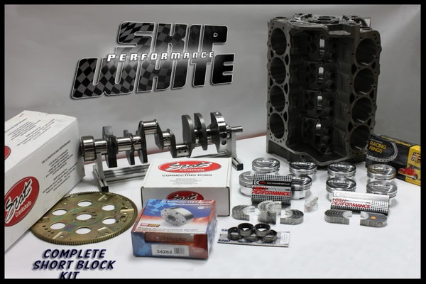 SBC CHEVY 383 SHORT BLOCK KIT FORGED +4cc DOME 4.030 PISTONS  for Sale $1,950