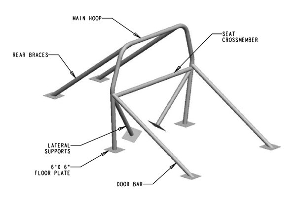 8 Point Roll Bar  for Sale $257.35