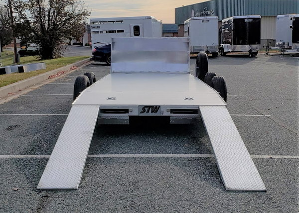 18 Foot Aluminum Car Trailer with Air Dam (2020)  for Sale $7,480