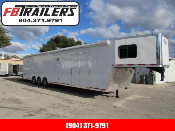2020 44ft Goose Neck Bath Package Race Trailer by Vintage  for Sale $45,999