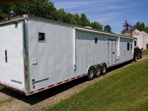 Dominator 52' car trailer with living quarters  for Sale $29,000