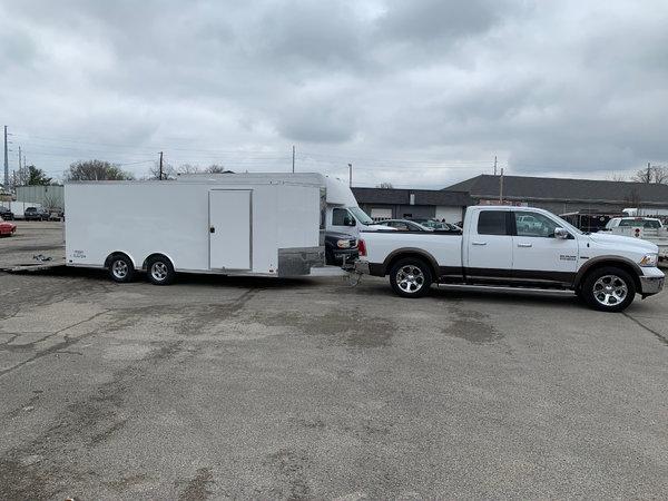ATC Raven 18' V-Nose enclosed trailer, only 3000 miles since  for Sale $9,000