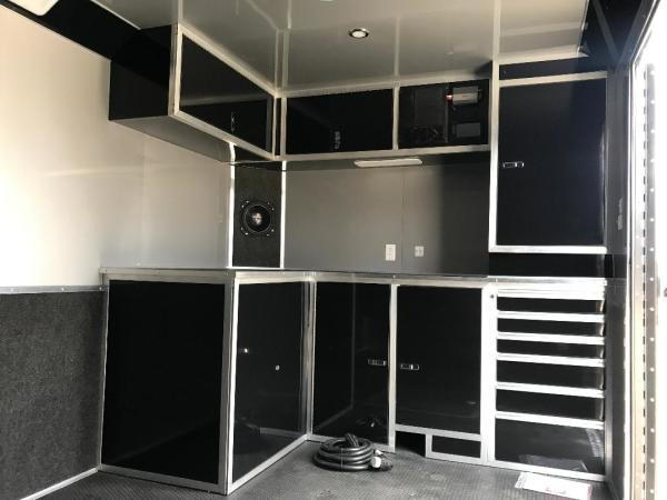 32' HAULMARK ENCLOSED RACE TRAILER WITH BLACKOUT TRIM  3 COL  for Sale $25,999